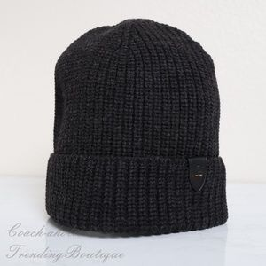NWT Coach Men's 100% Wool Ribbed Knit Hat